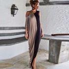 One-Shoulder Asymmetric Maxi Dress 1596