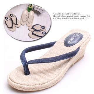 Buy Woorisin Wedge Thong Sandals 1022564546