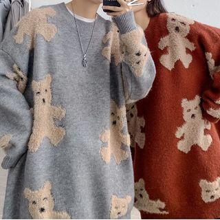 Bear Print Sweater