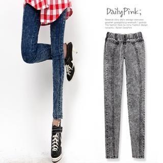 Buy Daily Pink Elasticized Waist Skinny Jeans 1022522825