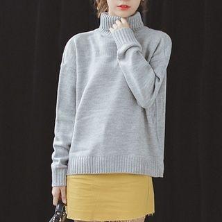 Turtleneck Drop Shoulder Sweater 1055218373