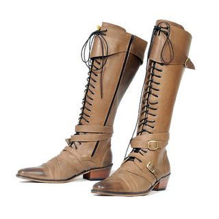 Buy deepstyle Laced up Buckled Boots 1021889263