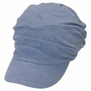 Picture of GRACE Gathered Casquette Blue - One Size 1022099484 (GRACE, Mens Hats & Scarves, Japan)