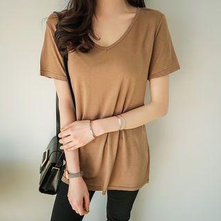 V-Neck Short-Sleeve T-Shirt 1065497606