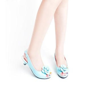 Buy KAWO Flower Peep-Toe Kitten-Heels 1022894678