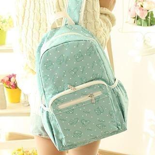 Printed Waterproof Backpack