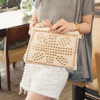 Studded Clutch with Strap