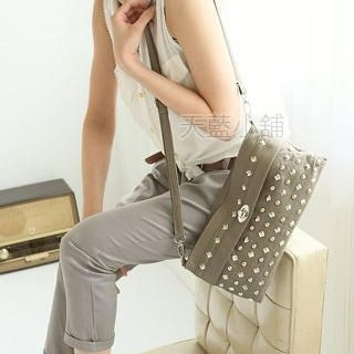 Buy SkyBlue Twist Lock Studded Handbag 1022986492
