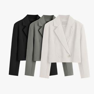 Single-button Cropped Blazer