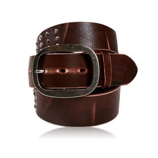 Buy Purplow Studded Belt Brown 1004913263