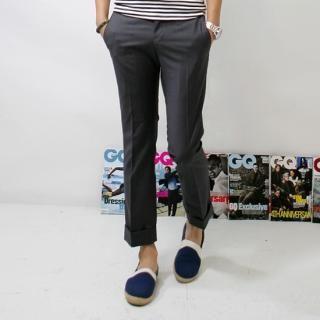 Buy ISNOM Cotton Cropped Pants 1022486253