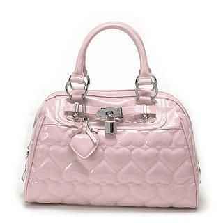 Buy Let's Fly Quilted Heart Pattern Shoulder Bag / Crossbag Pink – One Size 1022572417