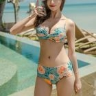 Set: Printed Ruffled Top + Skirt + Bikini 1596