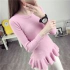 Ruffle Hem Ribbed Sweater 1596