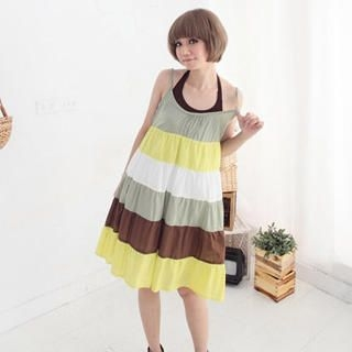 Buy CatWorld Sleeveless Color-Block Dress 1023065406