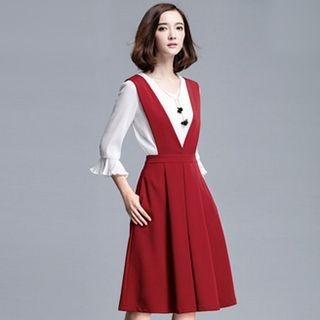 Midi Pinafore Dress 1052731087
