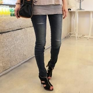 Buy CLICK Distressed Skinny Jeans 1023070750