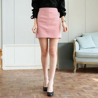 Colored A-Line Mini Skirt