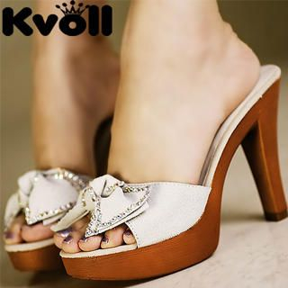 "Buy Kvoll Genuine Leather ""Bow"" Platform Sandals 1023069831"