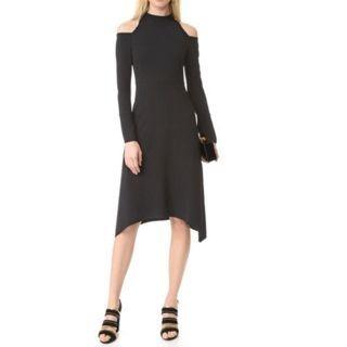 Long-Sleeve Cutout Shoulder Dress 1053626051