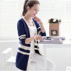 Striped Long Cardigan 1596