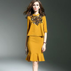 Set: Sequined Knit Top + Pencil Skirt 1596