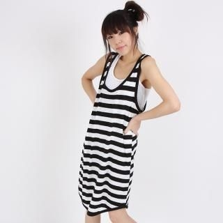 Buy Mak's Sleeveless Striped Dress 1022965866