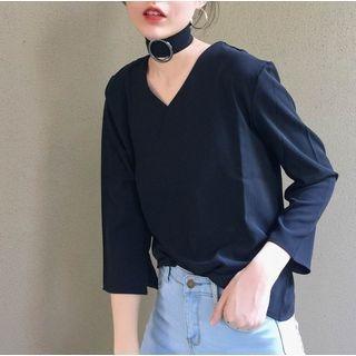 Long Sleeve V-Neck Top 1052998443