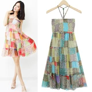 Buy HUE IT GIRL Halter Patterned Chiffon Dress 1023010106