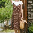 Floral Strappy A-Line Midi Dress 1596