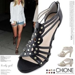 Picture of Chione Faux-Leather Sandals 1022916180 (Sandals, Chione Shoes, Korea Shoes, Womens Shoes, Womens Sandals)