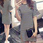 Striped Mini T-Shirt Dress 1596