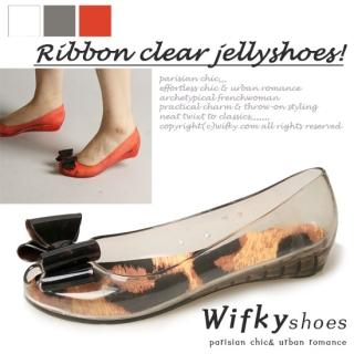 Buy Wifky Bow Accent Jelly Pumps 1022971681