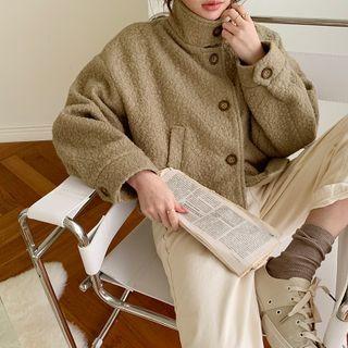 High-neck Boxy Boucl Jacket