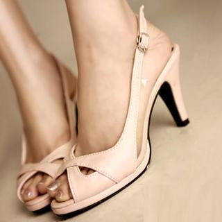 Light Pink Kitten Heels
