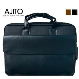 Picture of AJITO Faux-Leather Briefcase 1023042959 (AJITO, Briefcases, Korea Bags, Mens Bags, Mens Briefcases)