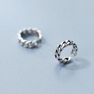 Sterling   Earring   Silver   Chain   Open   Size   One
