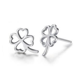 925-sterling-silver-four-leafed-clover-silvery-stud-earrings