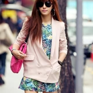 Picture of REDOPIN Double-Breasted Blazer 1022690821 (REDOPIN Apparel, Womens Jackets & Blazers, South Korea Apparel, South Korea Jackets & Blazers)