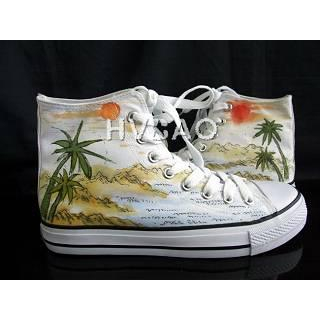 Picture of HVBAO Tropical Scene High-Top Sneakers 1011786908 (Sneakers, HVBAO Shoes, Taiwan Shoes, Womens Shoes, Womens Sneakers)