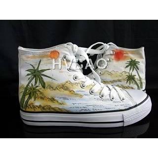 Buy HVBAO Tropical Scene High-Top Sneakers 1011786908