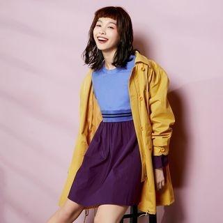 Long-Sleeve Color-Block Dress 1057019005