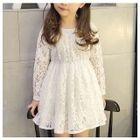 Kids Long-Sleeve Lace Dress 1596