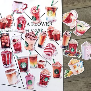 Set of 24: Drinks Stickers 1063401820