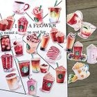 Set of 24: Drinks Stickers 1596