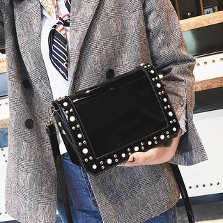 Studded Patent Crossbody Bag