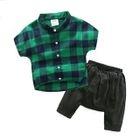 Kids Set: Plaid Shirt + Harem Pants 1596