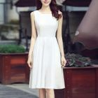 Sleeveless Chiffon Dress 1596