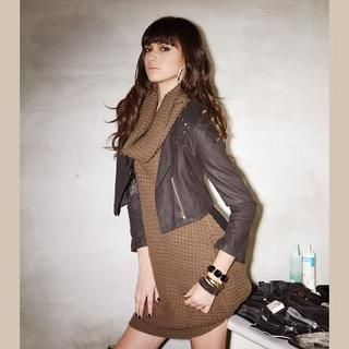 Picture of Joanne Kitten Cowl-Neck Knit Jumper Dress 1022567950 (Joanne Kitten Dresses, Womens Dresses, Taiwan Dresses, Jumper Dresses)
