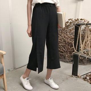 Slit Capri Wide Leg Pants 1060128379